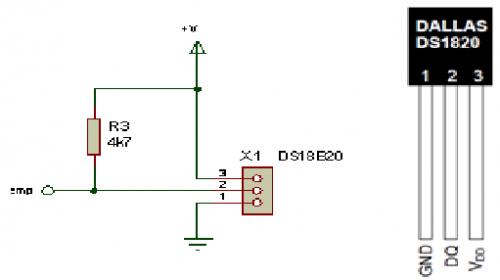 ds 18b20 схема